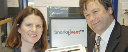 Irial and Michael with the Snorkel Vent